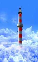 Lighthouse In The Clouds Picture