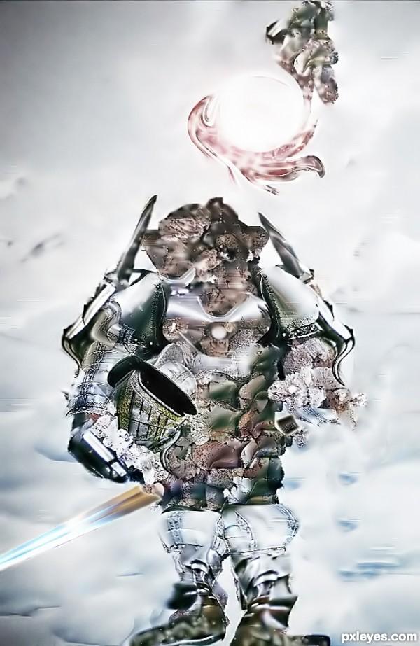 snowy dino warrior