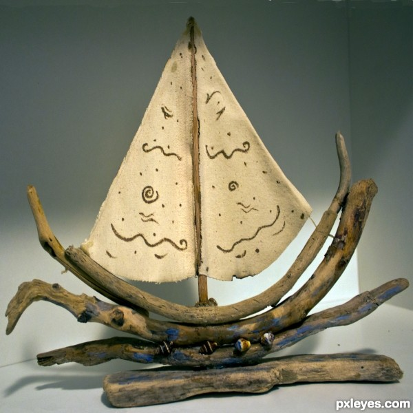 Made of twigs and driftwood