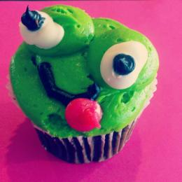 Frog Cupcake. Picture