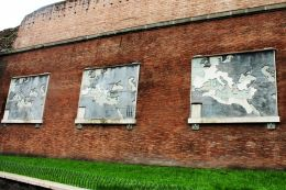 Historical maps on the historic wall