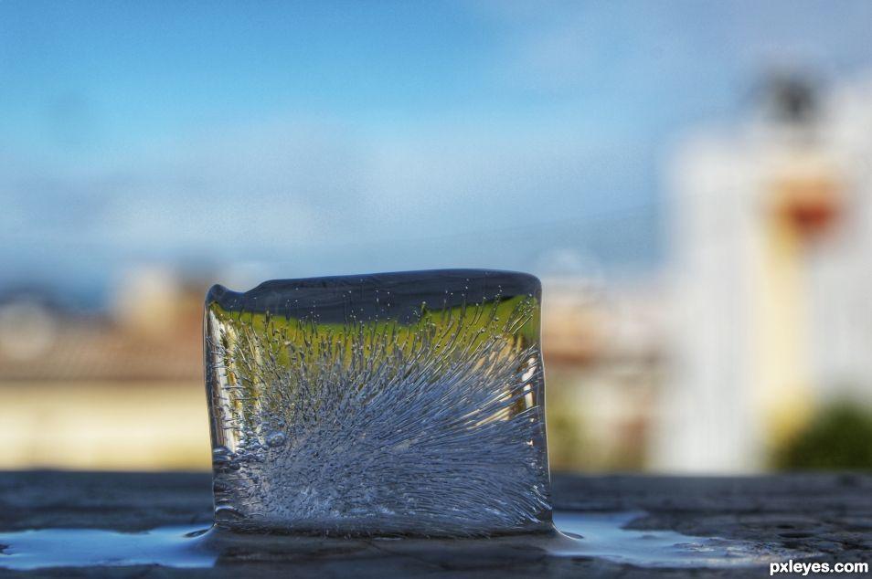 Melting cube