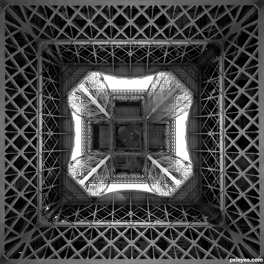 Underneath the Eiffel photoshop picture)