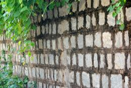 Squared block wall