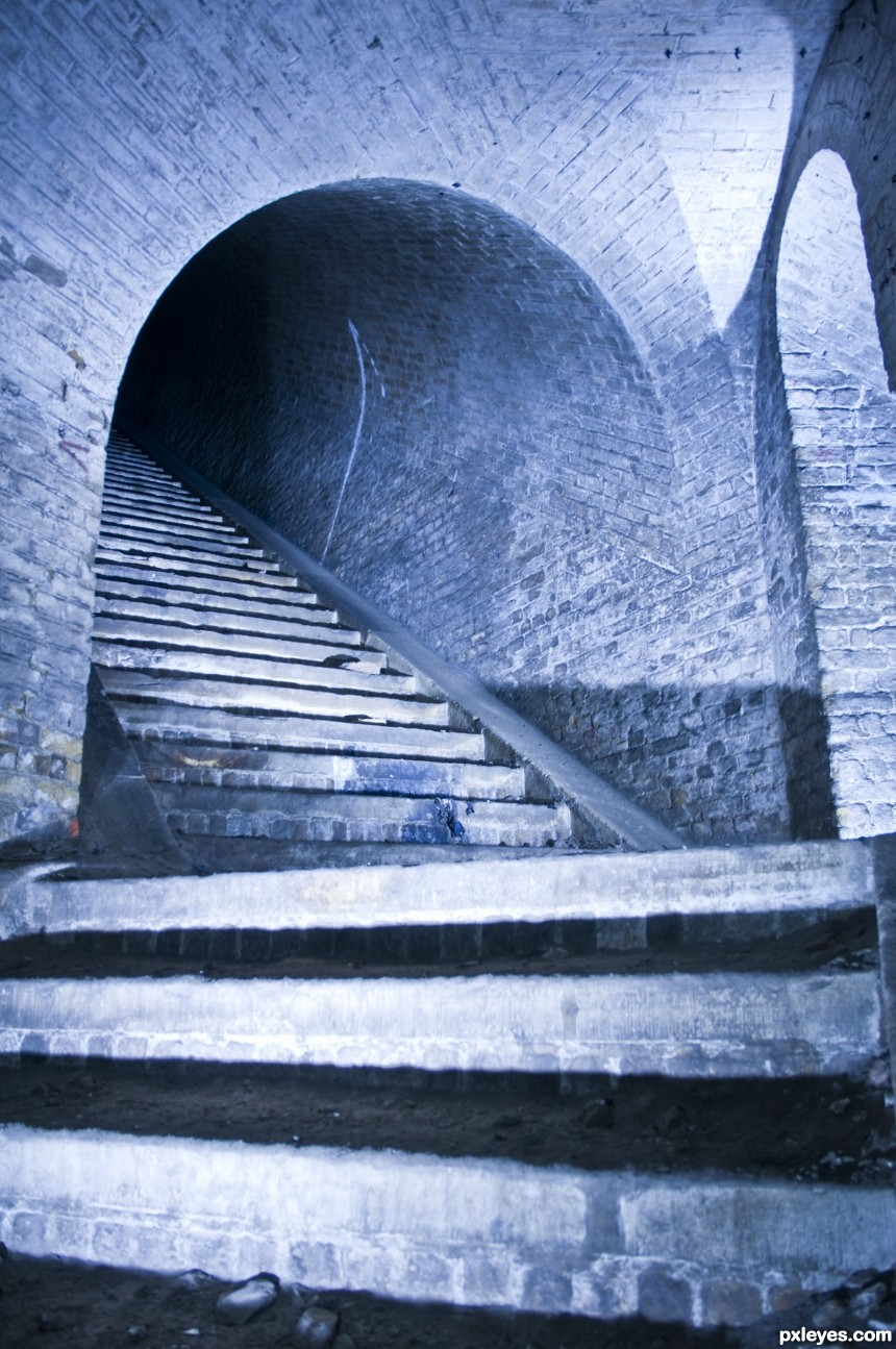 Stairs to Where? photoshop picture)