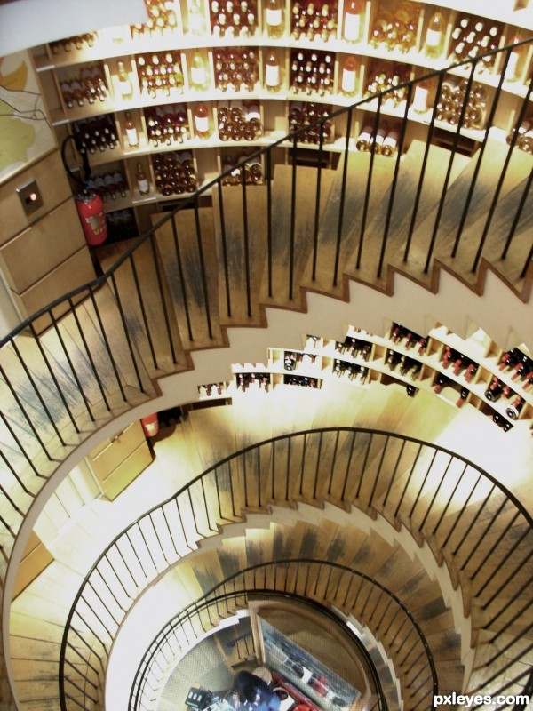 On the way down, choose your wine...