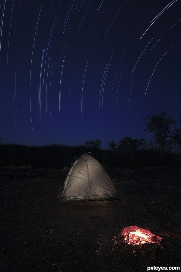 Camping Under the Stars photoshop picture)