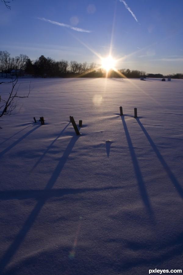 Cold winter sun