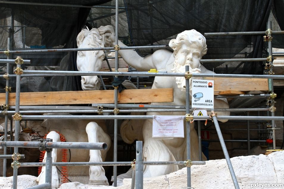 Trevi Fountain Rehabilitation