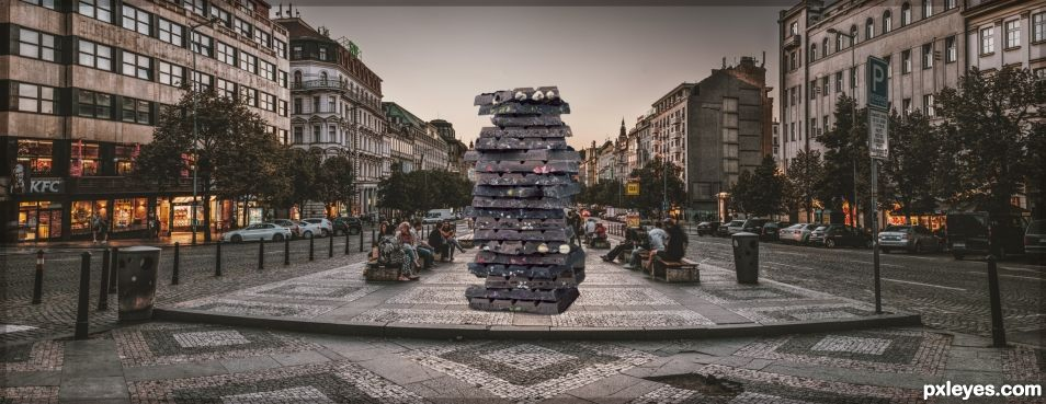 ...choco tower in Prague