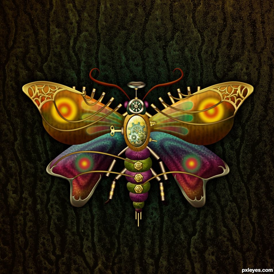 Steampunk Moth