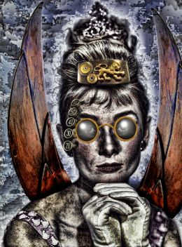 The Mechanical Winged Hepburn with Lion Gear Buckle Headress