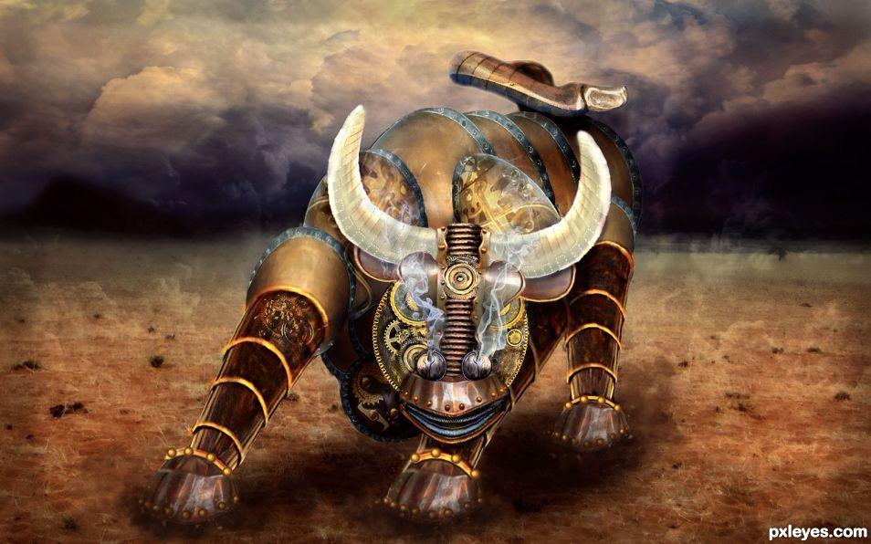 Angry Bull Robot