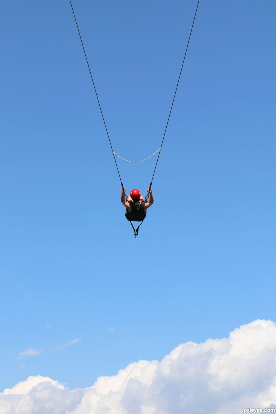 swinging in the sky