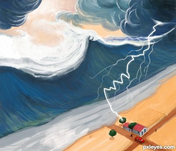 Tsunami vs rainstorm
