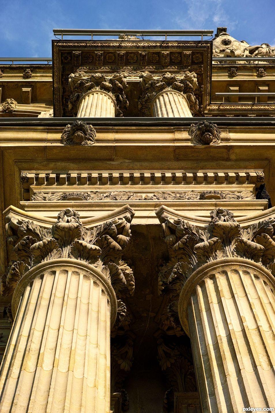 Follow the pillars all the way up