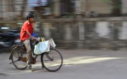 cycling through his way