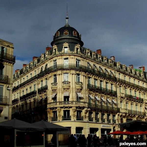 A corner in Montpellier