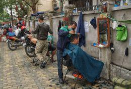 Hair Salon on Street