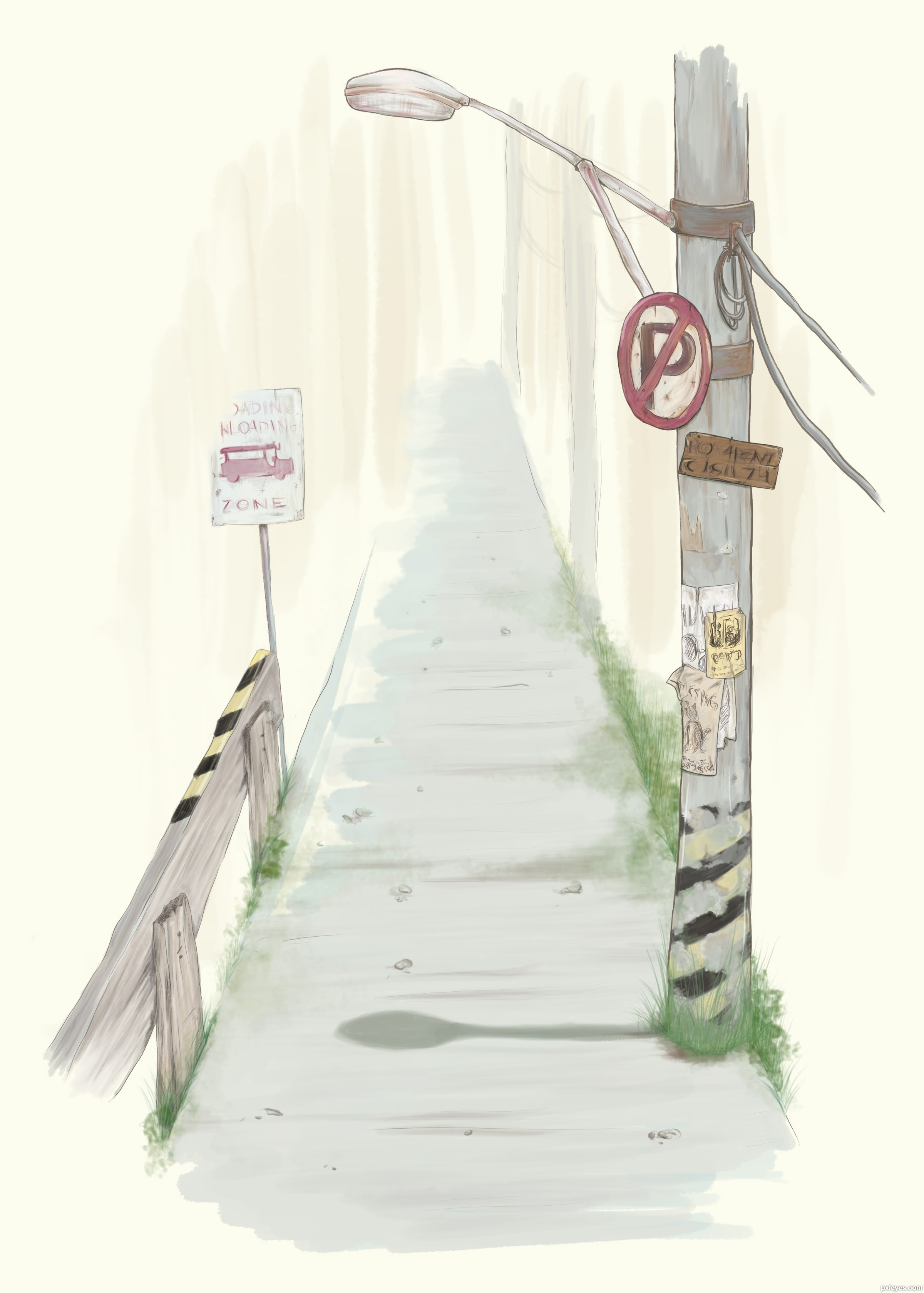 hello streetlight picture, by tk for: street lights drawing ... for Street Light Drawing  584dqh