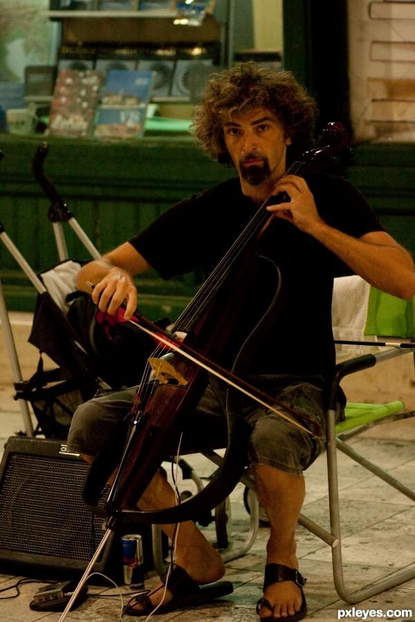 Amazing cello player