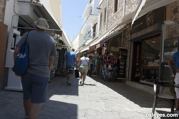 Foreign Street As A Tourist
