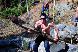 Caveman Log Picture