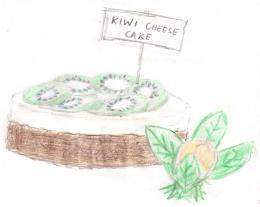 Kiwi Cheese cake Picture