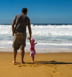 Look Dad big wave