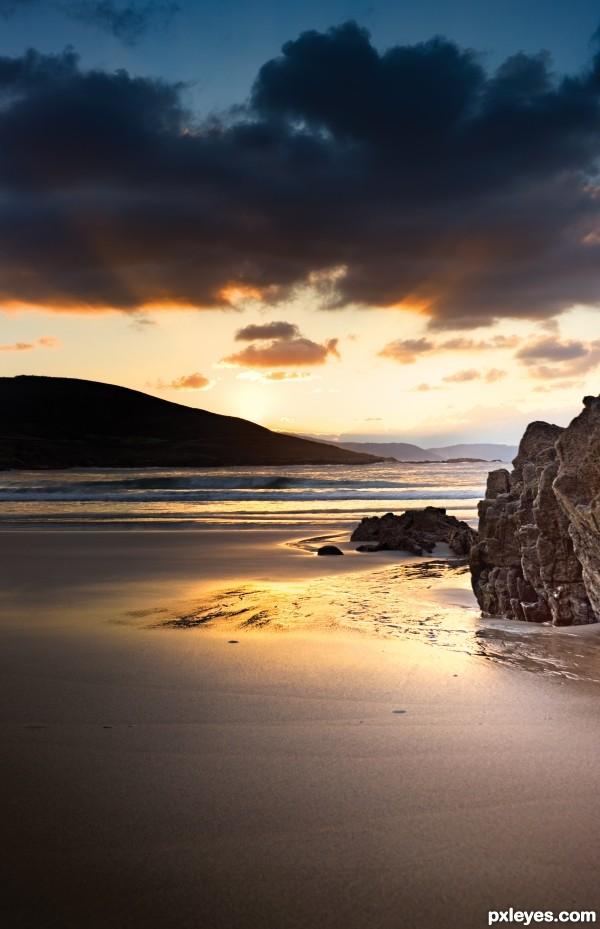 Last rays at the beach
