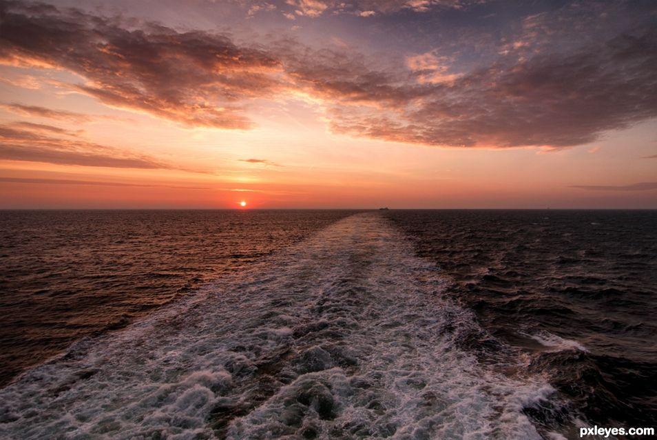 Sunrise over the Baltic Sea