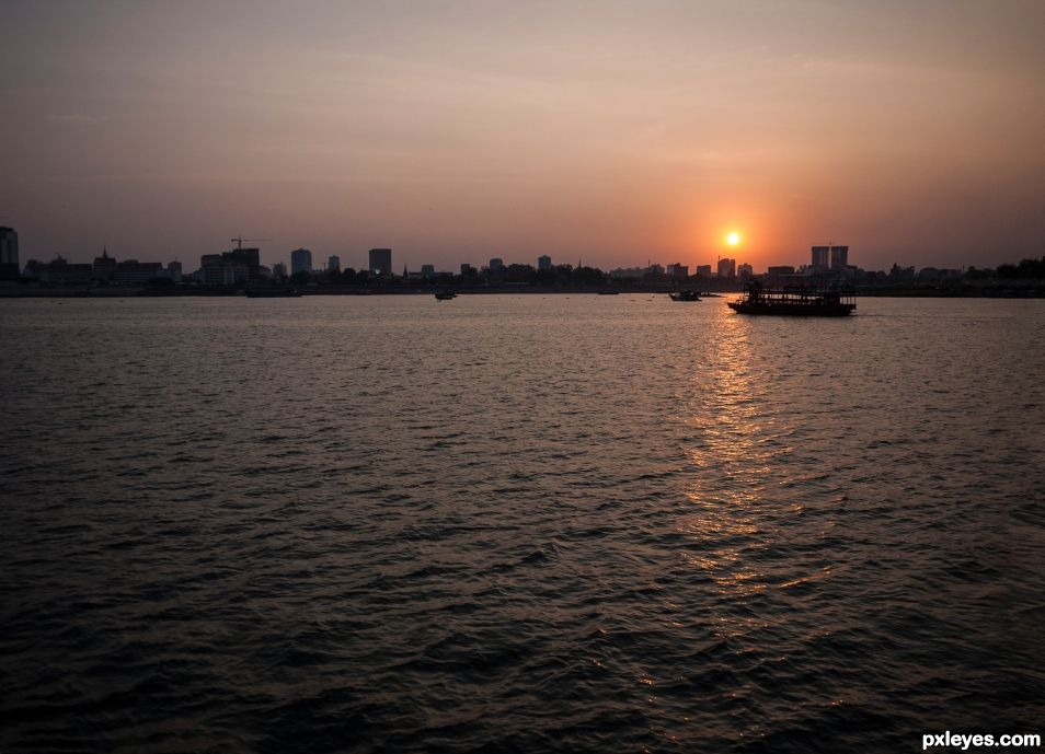 River Mekong in the evening
