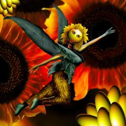 Sunflower on Fire