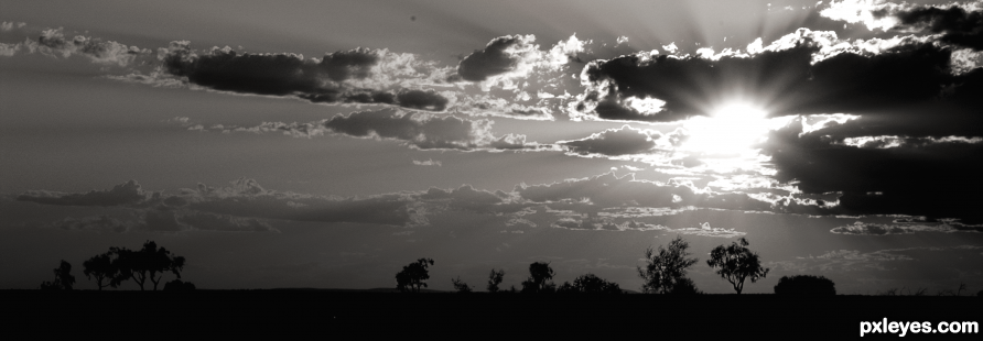 Sunset in the Outback photography picture