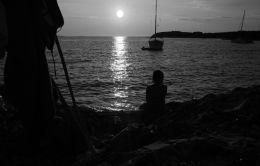 sunset in silence