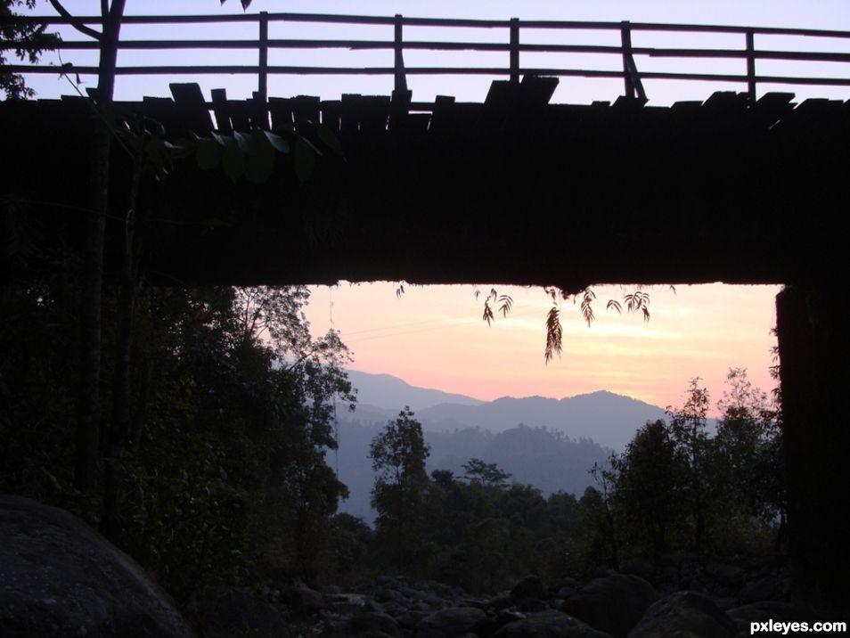 Sunrise under a Bridge