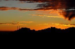 Sunset in India