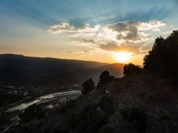Sunset over Berat