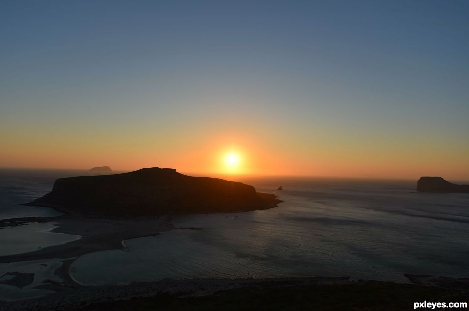 Sunset in Balos- Crete