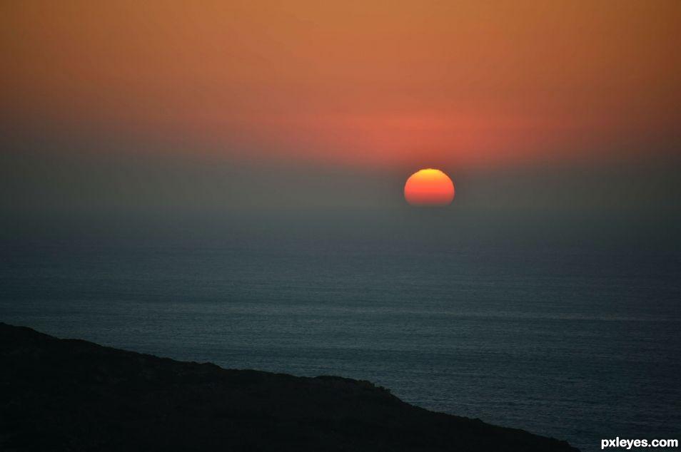 sunset in Balos - Crete
