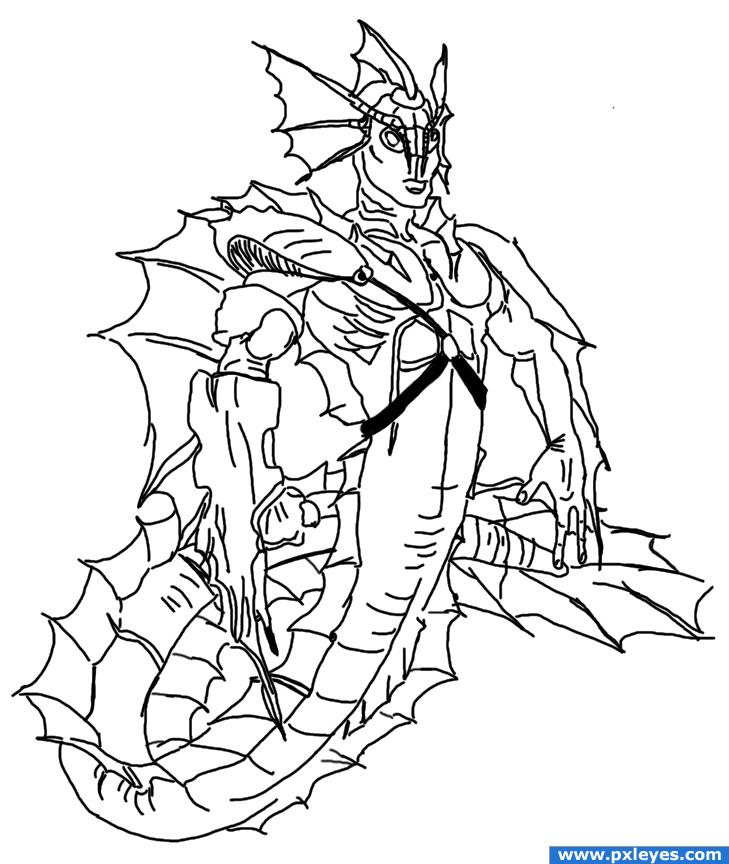 Ice Superhero Drawing Super Dragon