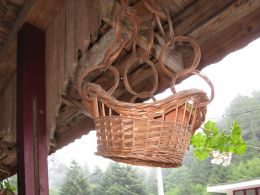 Hanging from the beam house