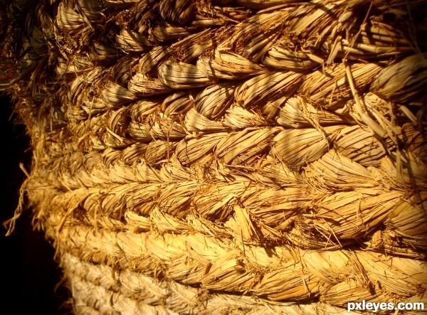 rice straw roap