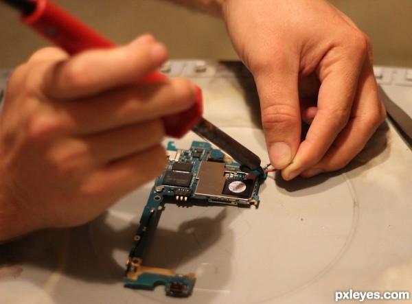 Phone repair.