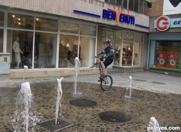 Poor biker