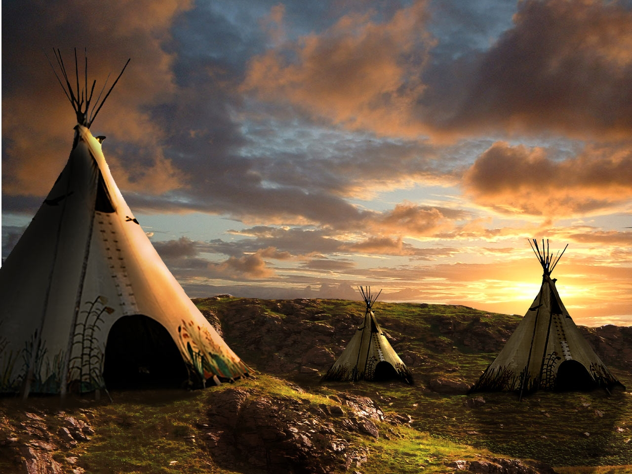 Sunset picture by George55 for teepee photoshop