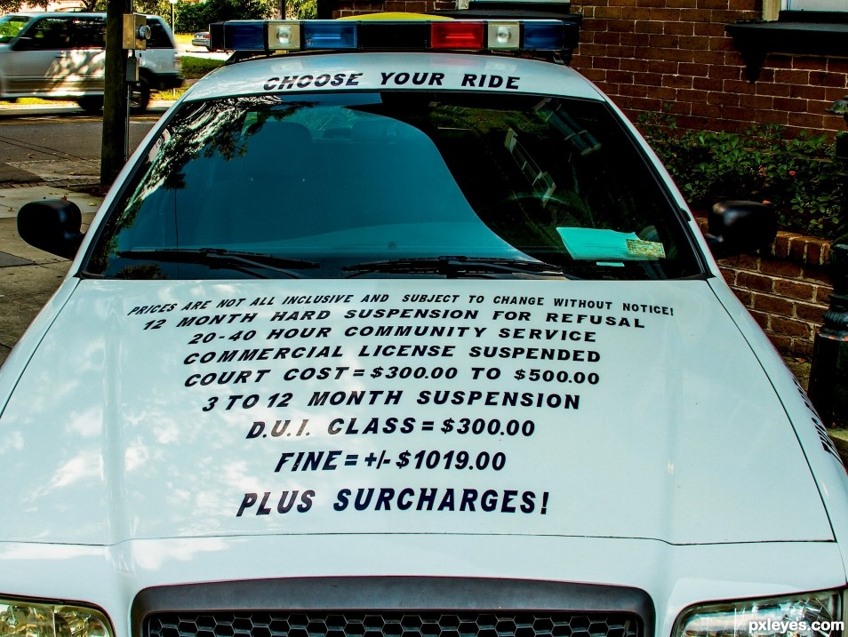 This is on a police car