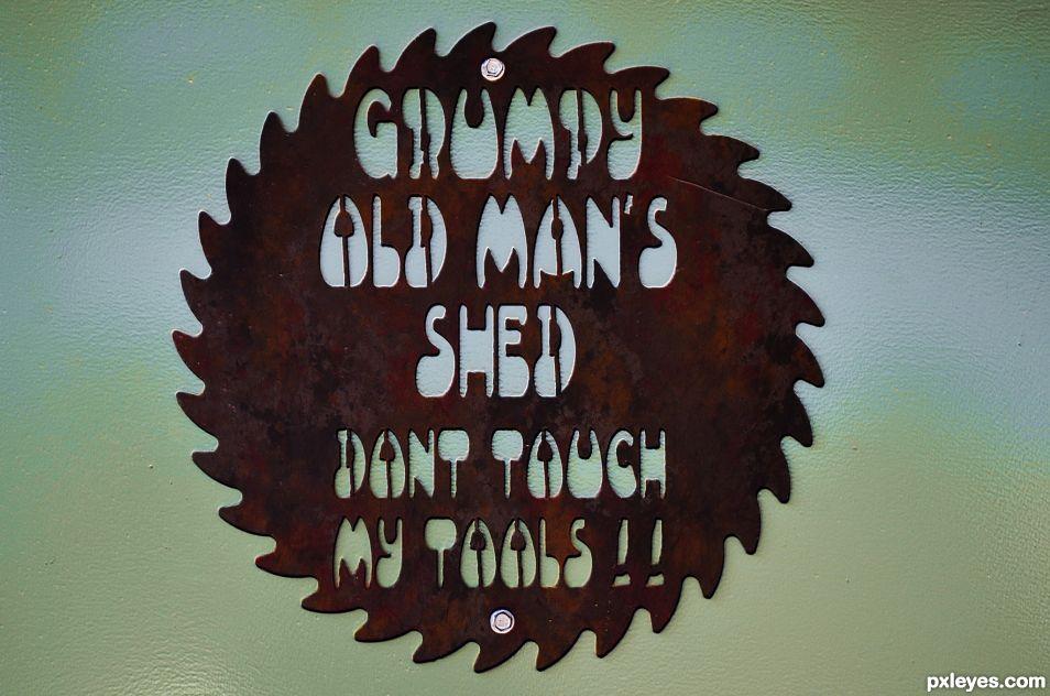Shed door sign