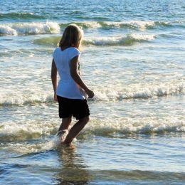 Walking through Waves Picture