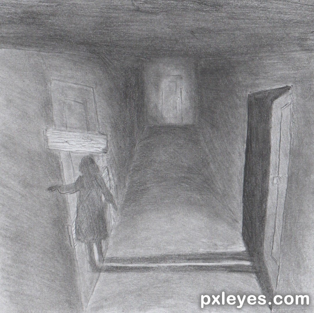 Dark Hallway Picture By 27468rip0 For The Room Drawing